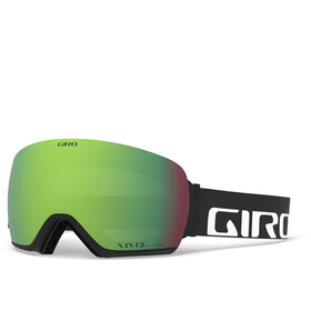 Giro Article Maschera Uomo, black/vivid emerald/vivid infrared